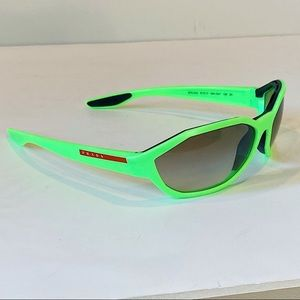 Neon Prada Sunglasses in fluorescent green Y2K
